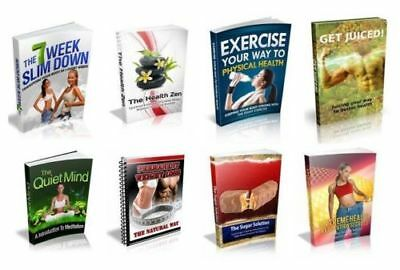 100 Health and Fitness eBooks Disc Full Resell Rights PDF Format on CD