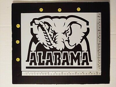 "Alabama Crimson Tide Big Al Elephant 11"" x 8.5"" Stencil FAST FREE SHIPPING"