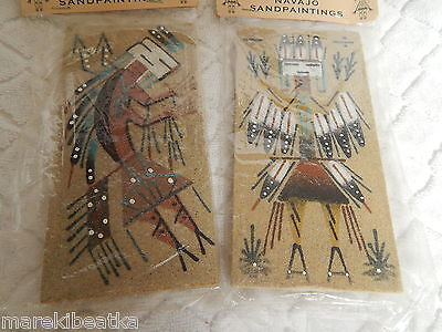 Vtg Authentic Navajo 2 Sandpaintings  , Nwt, Signed