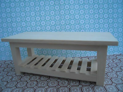 Dolls House Miniature Furniture In 1/12 Scale Large Table Handmade
