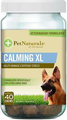 Calming XL for Extra-Large Dogs, Pet Naturals of Vermont, 40 chews