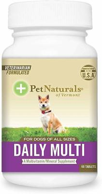 Daily Multi for Dogs, Pet Naturals of Vermont, 60 tablet 1 pack