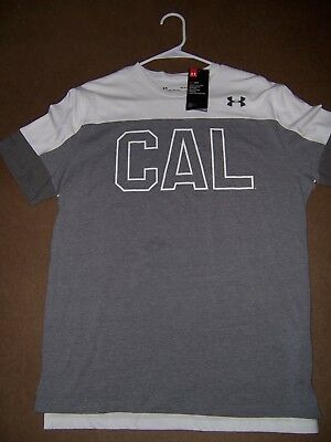 the latest 5be12 86681 NWT Under armour California Cal Bears Men s shirt large New heat gear L Gray