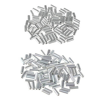 200Pcs Simple Pêche Crimp Manches Tube Fil Leader Sleeve Outil De Pêche