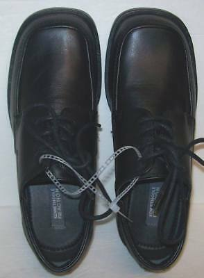 Kenneth Cole Reaction Youth Boys T-Flex Black Dress Shoes Size 5.5M NWOB