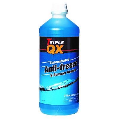 Triple QX 1L Blue  AntiFreeze Summer Coolant 1 Litre Tracked Post concentrated