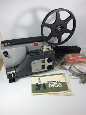 Sankyo Dualux 1000  Dual 8mm Movie Projector Variable Speed W New Parts