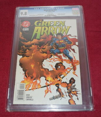 """Green Arrow #101 ~ CGC 9.8 ~ """"Death"""" of Oliver Queen!! White Pages"""