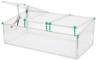 BioStar Mini Greenhouse Cold Frame Insulated Adjustable Height Door Latch New