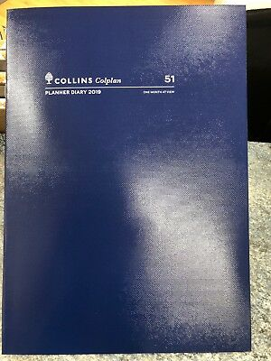 Colplan 2019 A4 Planner Diary 1 Month To View MTV  Blue