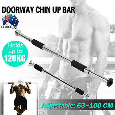 Door Chin Up Bar Portable Home Gym Doorway Pull Up Exercise Workout Fitness Iron