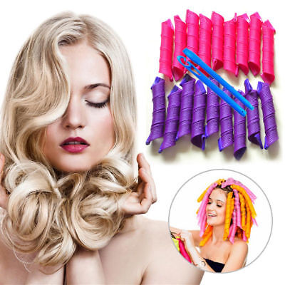 40PCS 50cm Magic Long Hair Curlers Curl Formers Leverage Rollers Spiral Ringlets