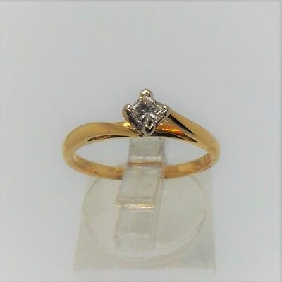 GEORGOUS 18ct YELLOW GOLD DIAMOND RING VALUED @$1714 COMES WITH VALUATION