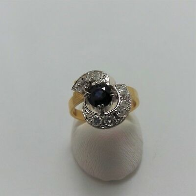 18Ct Yellow Gold 3/4 Ct Sapphire 1/2Ct Diamond Ring Valued @$3791 With Valuation