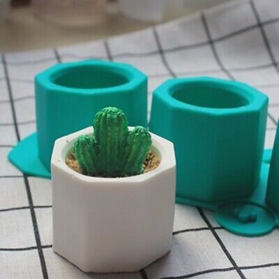 Cement Flowerpot Silicone Mold Ceramic Clay Craft Casting Concrete Cup Molds