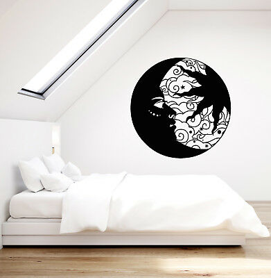 Vinyl Wall Decal Ethnic Crescent Moon Face Sun Circle Stickers (2975ig)