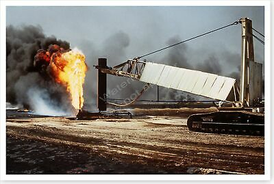 Kuwait Oil Well Fire In Aftermath Of The Persian Gulf War 8 x 12 Photo