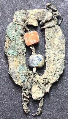 Ancient Roman High Status Decorative Brooch With Coloured Beads 1st Century.