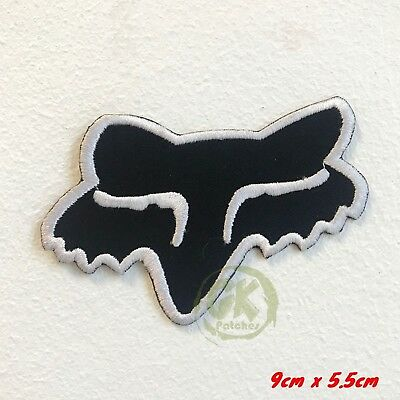Fox Racing Clothing MTB brand Iron/Sew on Embroidered Patch UK Seller
