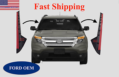 11-19 Ford Explorer Windshield Outer Trim Pillar Molding Passenger & Driver Side
