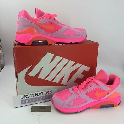super popular 77f55 7500b Nike Comme des Garcons Air Max 180 CDG Sneakers M 10 w 11.5 Pink Pink AO4641