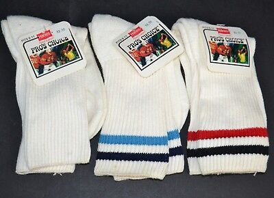 Vtg Lot of 3 Prs HANES Pro's Choice Athletic Crew Socks Women's 9-11