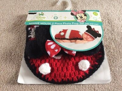 Minnie Mouse Crochet Newborn Baby Costume Infant Knit Outfit Photo Prop NEW