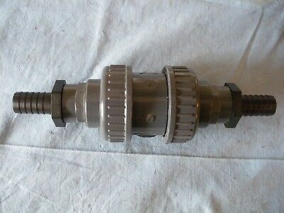 """PVC Check Valve Non-Return 1"""" BSP fitted with hose tails DIN 25"""