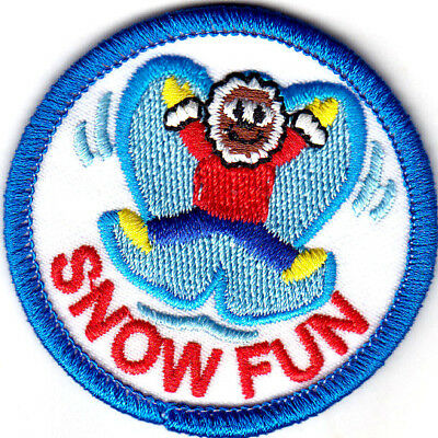 "IRON ON EMBROIDERED PATCH SNOW WINTER /""WINTER WONDERS/"" PATCH SNOW FLAKES"