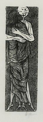 "An early wood engraving by Leonard Baskin, ""The Ascension"", pencil signed, 1961"