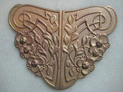 Vintage 1940s French Art Nouveau Stamping, Jewelry Component/Focal/Centerpiece