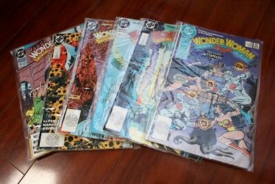 Copper Age, Wonder Woman comic book lot 26 27 28 29 30 38 39 (1989-1990 DC)