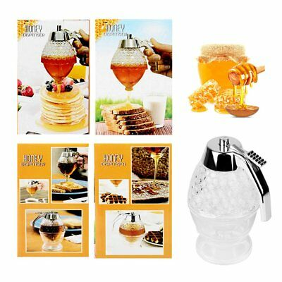 Acrylic Honey Syrup Dispenser Pot 15cm*8cm Shatter Proof BPA Free Tools XAUAG