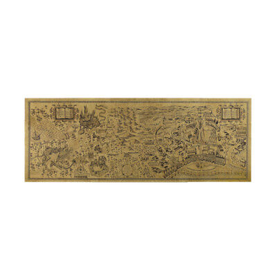 """Harry Potter Movie Props Map Of The Wizarding World Big Poster Movie 28.3""""x10.2"""""""