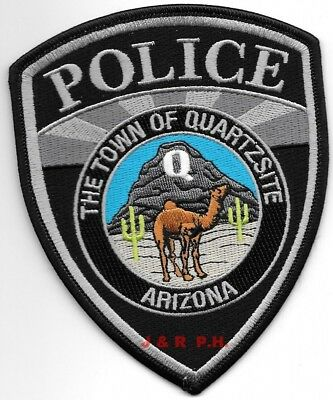 "*NEW* Town of Quartzsite subdued, Arizona (4"" x 5"") shoulder police patch (fire)"