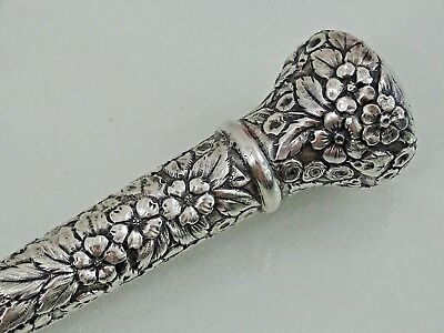 GORGEOUS AMERICAN HAND CHASED REPOUSSE STERLING SILVER UMBRELLA HANDLE Baltimore