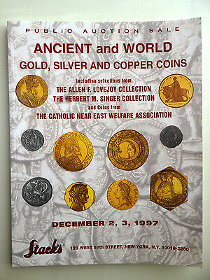 Stack's Auction Catalog Dec 1997  Ancient and World Gold Silver & Copper Coins