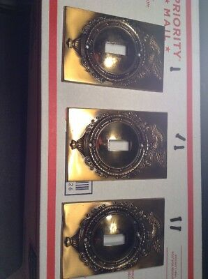 3Vintage Brass Smith House Federal Eagle Single Toggle Switch Plate Outlet Cover