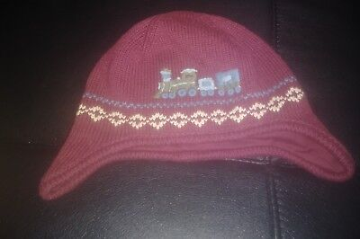 Boys JANIE AND JACK Toddler Train  Winter Hat Size 4T-5T Warm Holiday Cute!