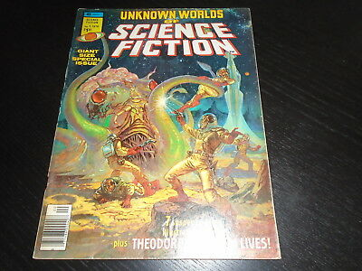 UNKNOWN WORLDS OF SCIENCE-FICTION SPECIAL #1 Marvel Magazine 1976  G/VG