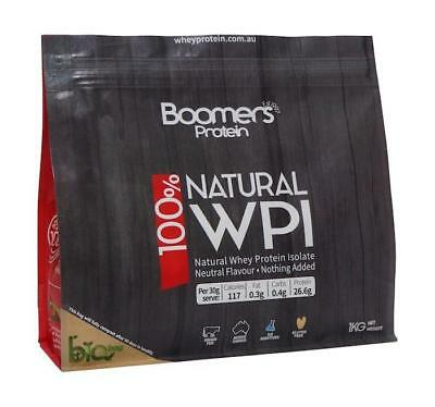 Boomers Grass Fed Natural Whey Protein Isolate Powder