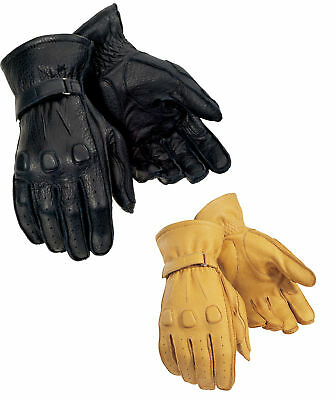 Tourmaster Mens Deerskin Leather Motorcycle Gloves All Sizes & Colors