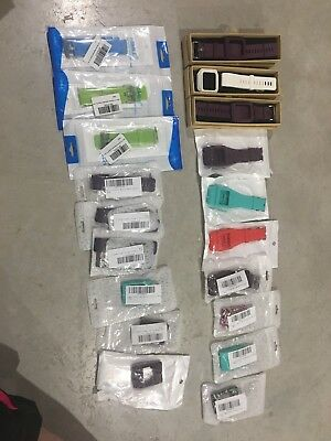 WHOLESALE LOT Of 24 Assorted Sizes/colors of Fitbit Blaze Bands, Etc