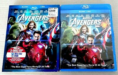 The Avengers (Blu-ray & DVD, 2012, 2-Disc Set) With embossed Slipcover