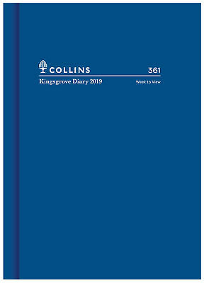 Diary 2019 Collins Kingsgrove Blue A6 Week to View #361 NEW