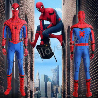 Spider-Man:Homecoming Spiderman Peter Cosplay Halloween Costume Best Quality