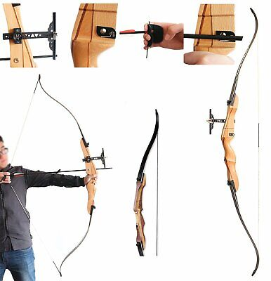 """Armex Saxon Archery Recurve Complete Bow kit Youth//Adult RIGHT Hand 68/"""" 28 Lbs"""