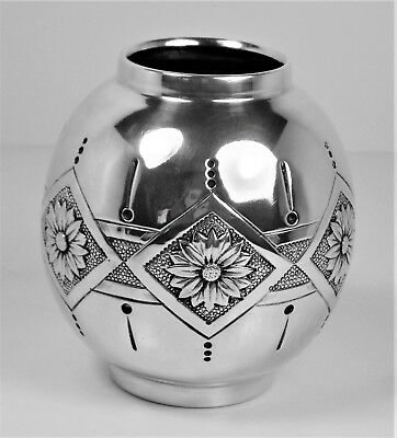 Vase repousse work very beautiful solid silver