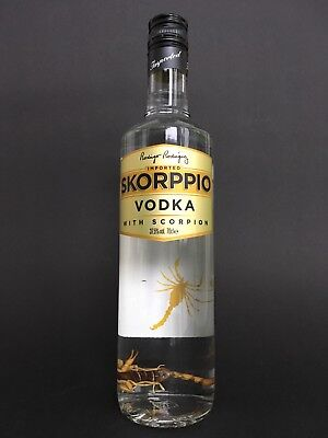 Skorppio vodka with real edible Scorpion full 700ml 37,5%Vol. party wodka Bottle