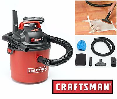 Craftsman 2.5 Gallon Wet Dry Vac Portable Vacuum Cleaner Car Boat Garage Blower